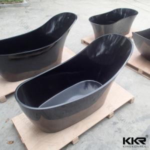 Kkr Simple Modern Black Solid Surface Freestanding Bathtub (BT1705123) pictures & photos