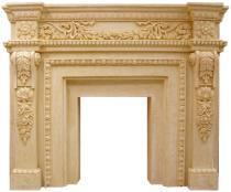 Europe Style Sandstone Sculpture Fireplace Mantel for Home Decorations pictures & photos