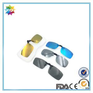 Unique Designer Square Lense Polarized Clip on Sunglasses