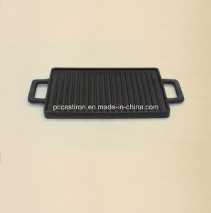 Preseasoned Cast Iron Griddle Pan Size 46X26cm pictures & photos