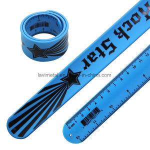 Custom Advertisement Silicone Slap Ruler Bracelet Wristband pictures & photos
