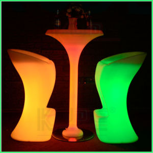 Plastic Bar Chair Stool RGB Glowing Furniture pictures & photos
