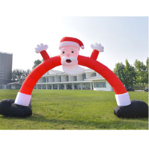 Family Holiday Party Decoration Inflatable Santa Claus Arch pictures & photos
