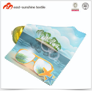 High Quality Digital Printing Microfiber Cloth for Glasses pictures & photos