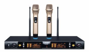 Ls-Q2 Professional Karaoke Microphone Double Channel UHF Wireless Microphone pictures & photos