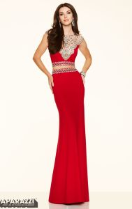 Sheath Formal Gowns Red Blue Black Beading Evening Dresses PA98137 pictures & photos