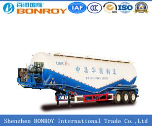 Cimc 3axle Bulk Cement Tanker Semi Trailer pictures & photos