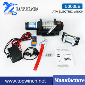 4X4 Electric Recovery Winch with Wireless Remote Control 12V 5000lb pictures & photos