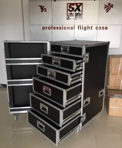 PRO Audio Toolbox Drawer Road Case with Duty Heavy Wheels pictures & photos