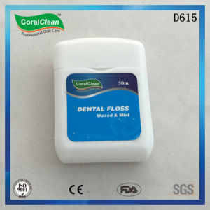 50m Waxed & Mint Square Nylon Dental Floss pictures & photos