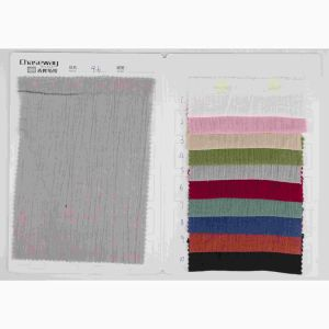 Crinkle 55%Linen 45%Cotton Fabric Linen/Cotton Blended Crepe Fabric pictures & photos