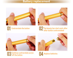 Beauty Bar 24k Gold Electric Bar Facial Whitening Product Lift Face pictures & photos
