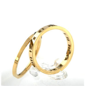 Jewelry Fashion Personalized Couples Stainless Steel Wedding Ring pictures & photos