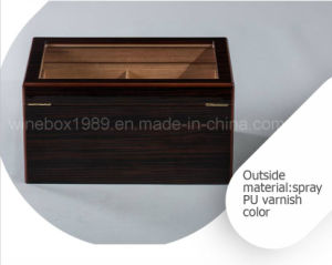 High-Quality Retro MDF Mahogany Varnished Cigar Gift Box pictures & photos