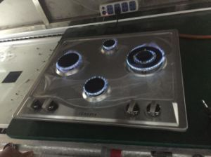 Sabaf 5 Burner Stainless Steel Gas Stove pictures & photos