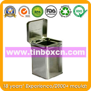 Square Metal Tin Box with Hinge, Food Tinplate Box pictures & photos