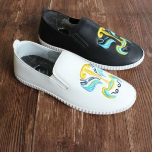 2017 New Style Women Slip on Shoes with Embroidery Pattern pictures & photos