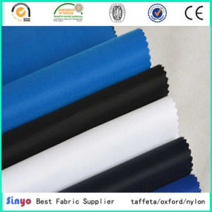 100% Polyester Polyurethane Coated W/R Thin 210d 15*19 Bags Lining Fabric pictures & photos