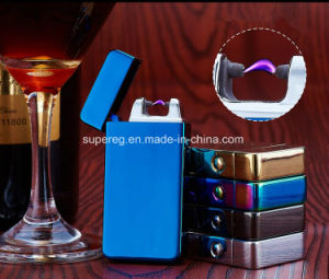 Metal Mirro Electronic USB Lighter Men Smoking Cigar Lighter pictures & photos