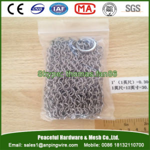Stainless Steel Chainmail Scrubber Cast Iron Cleaner pictures & photos