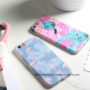 Soft TPU IMD Cartoon Flamingo Phone Case for iPhone pictures & photos