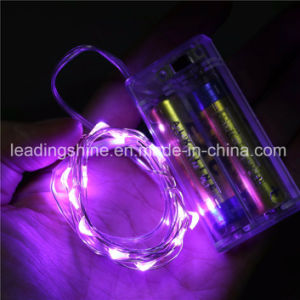 Pink Mini Rice Starry Lights Fairy Lights AA Battery Powered Ultra Thin String Wire pictures & photos