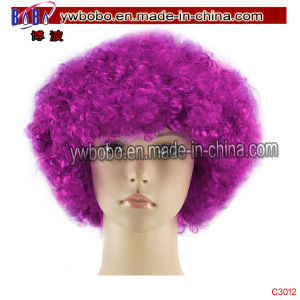 Halloween Carnival Cosumes BSCI Synthetic Afro Wig Holiday Decoration (C3012) pictures & photos