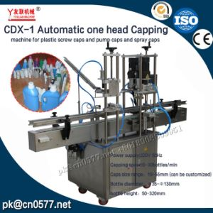 CDX-1 Automatic One Head Capping Machine for Plastic Screw Caps and Pump Caps and Spray Caps pictures & photos