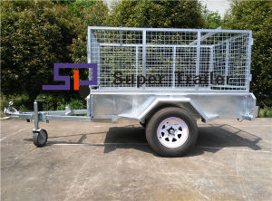 8FT*5FT Single Axle Box Caged Trailer