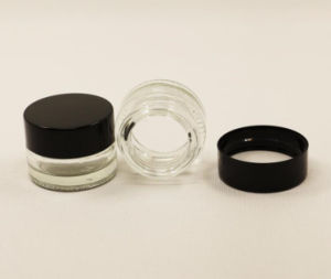 5ml Clear Tempered Glass Jar for Oil/Wax Storage pictures & photos