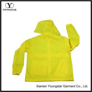 Waterproof Women′s Hooded Lightweight Yellow Windbreaker Jacket pictures & photos