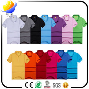 Cotton T-Shirts and Customized Logo Color with Turndown Collar Shirt pictures & photos