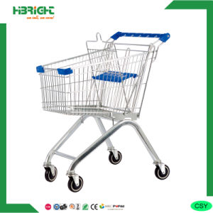 a Frame Metal Zinc Plated Shopping Cart pictures & photos