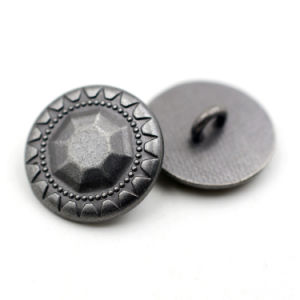 Custom Clothing Buttons Gunmetal Alloy Shank Button pictures & photos