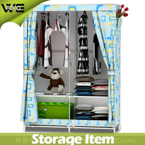Kids Discount Storage Cabinet Furniture Wardrobe Single Clothing Armoire pictures & photos