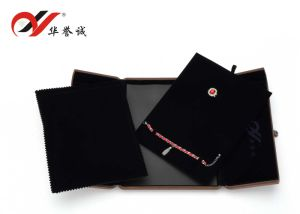 Foldable Brown Velvet Pendant Box for Jewelry Set Display pictures & photos