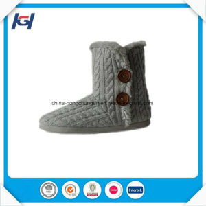 Winter Pink Knitted Warm Indoor Boots for Women pictures & photos