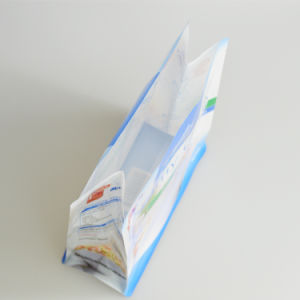 Food Grade Plastic Bag Zipper Lock Bag Flat Bottom Stand up Pouch with Side Gusset pictures & photos