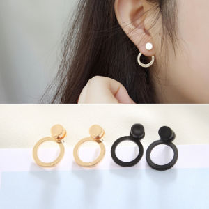 Popular Jewelry Women Fashion Stainless Steel Circle Stud Earrings pictures & photos