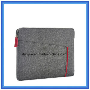 Popular Eco-Friendly Material of 70% Content Wool Felt Laptop Briefcase Sleeve, Custom Portable Soft Laptop Sleeve with Zipper pictures & photos
