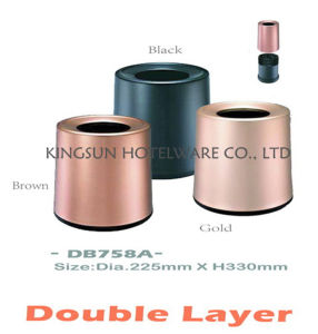 New Aluminium Double Layer Dustbins pictures & photos