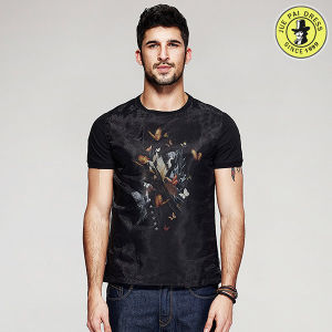 Men T-Shirts Manufacturer OEM Service Design 100% Cotton Round Neck Short Sleeve T-Shirt pictures & photos
