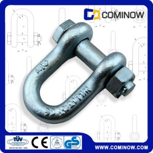 High Strength G2150 Drop Forged D Shackle with Bolt and Nut / Carbon Steel Anchor Chain Shackle pictures & photos