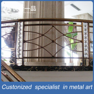Customized Factory Manufacture Black Titanium Stainless Steel Stair Handrail pictures & photos