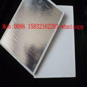 595X595X7mm PVC Gypsum Ceiling Tiles pictures & photos
