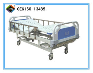 (A-47) Three-Function Manual Medical Hospital Bed with ABS Bed Head