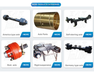 Manufacture Trailer Axle BPW Design Rear Axle pictures & photos