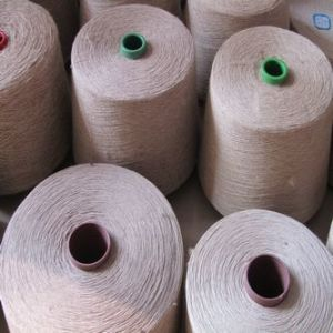 55%Linen/45% Polyeser Ne 16s Yarn Waxed for Knitting pictures & photos