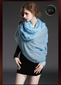 Pure Color Cashmere Scarf Shawl for Women pictures & photos
