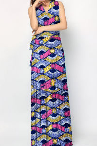 Fashion African Kitenge Dress Designs Women Summer Long Dresses pictures & photos
